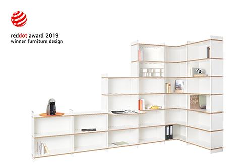 Tojo-mehrfach räumt weitere Design-Preise ab: Red Dot Award 2019 und Plus X Award Produkt des Jahres 2019